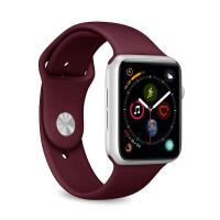 PURO ICON Apple Watch Band - Elastyczny pasek sportowy do Apple Watch 42 / 44 mm (S/M & M/L) (bordowy)