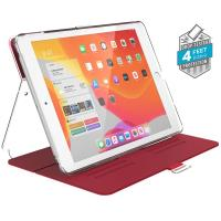 "Speck Balance Folio Clear - Etui iPad 10.2"" w/Magnet & Stand up (Heartrate Red/Clear)"