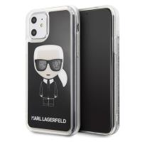 Karl Lagerfeld Iconic Glitter - Etui iPhone 11 (Black)