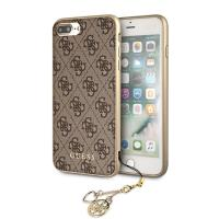 Guess 4G Charms Collection - Etui iPhone 8 Plus / 7 Plus z zawieszką (brązowy)