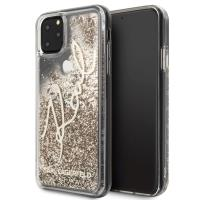 Karl Lagerfeld Signature Glitter Case - Etui iPhone 11 Pro Max (Gold)