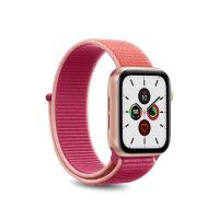 PURO Nylon - Pasek do Apple Watch 38 / 40 mm (Koralowy/Różowy)