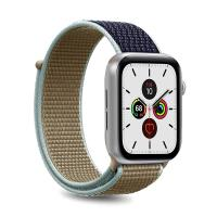 PURO Apple Watch Band - Nylonowy pasek do Apple Watch 42 / 44 mm (Khaki/Granatowy)