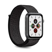 PURO Nylon - Pasek do Apple Watch 42 / 44 mm (Czarny)