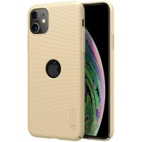Nillkin Super Frosted Shield - Etui Apple iPhone 11 z wycięciem na logo (Golden)