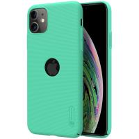 Nillkin Super Frosted Shield - Etui Apple iPhone 11 z wycięciem na logo (Mint Green)