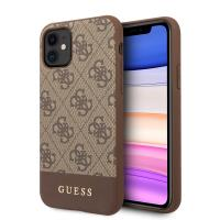 Guess 4G Bottom Stripe Collection - Etui iPhone 11 (brązowy)