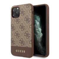 Guess 4G Bottom Stripe Collection - Etui iPhone 11 Pro Max (brązowy)