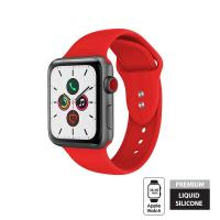 Crong Liquid Band - Pasek Apple Watch 38/40 mm (czerwony)