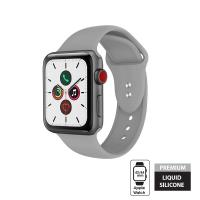 Crong Liquid Band - Pasek Apple Watch 42/44 mm (szary)
