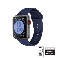 Crong Liquid Band - Pasek Apple Watch 42/44 mm (granatowy)