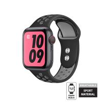 Crong Duo Sport Band - Pasek Apple Watch 38/40 mm (szary/czarny)