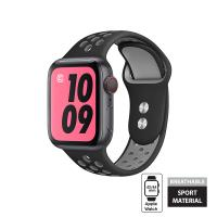 Crong Duo Sport Band - Pasek Apple Watch 42/44 mm (szary/czarny)