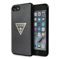 Guess Solid Glitter Triangle - Etui iPhone 8 / 7 (Black)