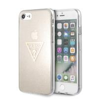 Guess Solid Glitter Triangle - Etui iPhone 8 / 7 (Gold)