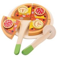 New Classic Toys - Drewniana pizza salami do krojenia