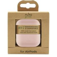 PURO Green Compostable Eco-friendly Cover - Ekologiczne etui Apple AirPods 1&2 (piaskowy róż)