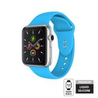 Crong Liquid Band - Pasek do Apple Watch 38/40 mm (niebieski)