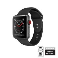 Crong Liquid - Pasek do Apple Watch 42/44 mm (czarny)