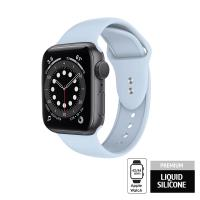 Crong Liquid - Pasek do Apple Watch 42/44mm (błękitny)