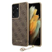 Guess 4G Charms Collection - Etui Samsung Galaxy S21 Ultra (brązowy)