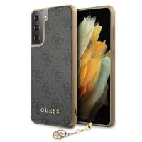 Guess 4G Charms Collection - Etui Samsung Galaxy S21+ (szary)
